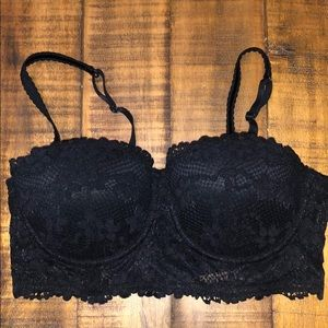 NWOT Lace Long Line Push Up Balconette Bra